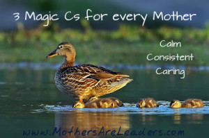 3 magic cs with mother duck